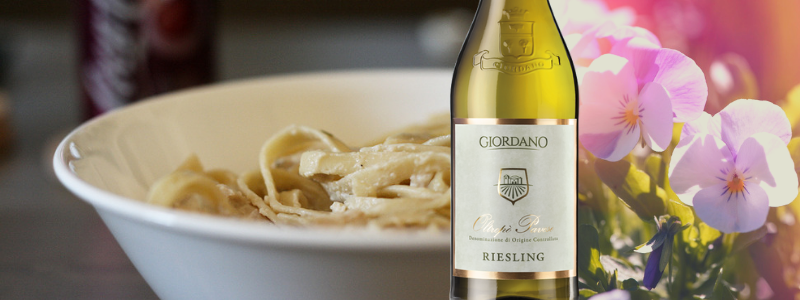 Riesling Oltrep� Pavese e tagliatelle Alfredo